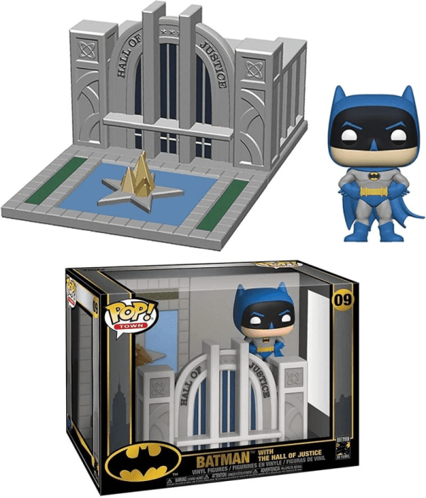 Batman 80th Hall of Justice With Batman Pop!