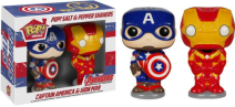 Captain America & Iron Man Pop! Salt & Pepper Shakers