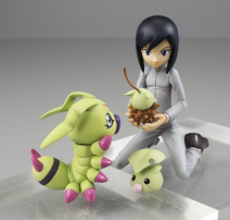 Digimon Adventure 02 Ken & Warmmon Gem Statue