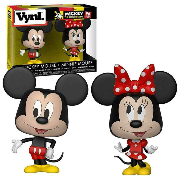 Disney Vynl. Mickey Mouse & Minnie Mouse 2 Pack (90 Years Of Magic)