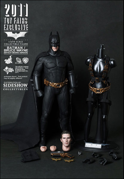 Exclusive Hot Toys Batman Bruce Wayne Batsuit Begins Figure