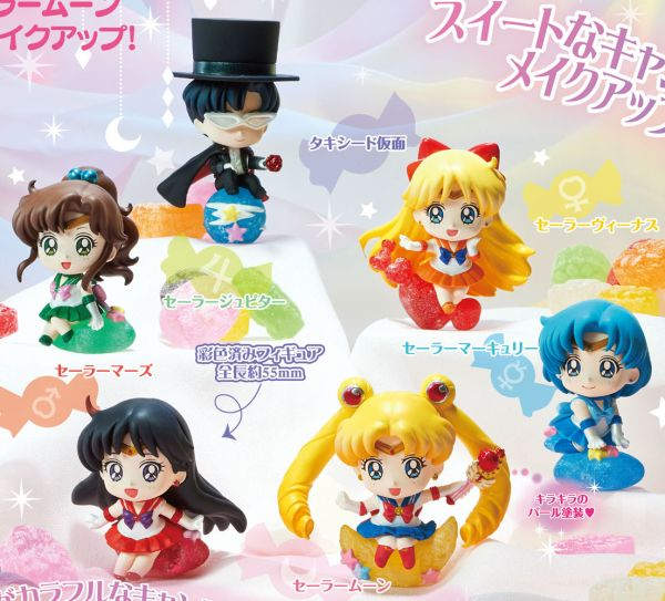 Sailor Moon Make Up Petit Chara Display (6 Pz)