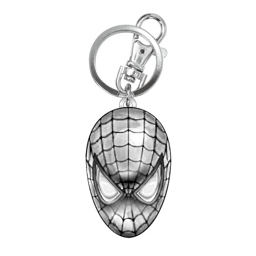 Spider-man Head Pewter Keyring