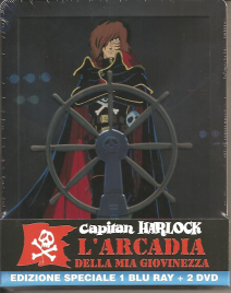 Capitan Harlock L'arcadia Della Mia Giovinezza (steelbook Limited Edition) (blu-ray+2 Dvd)