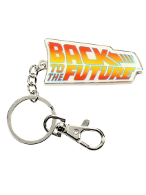 Back To The Future Logo Metal Keychain