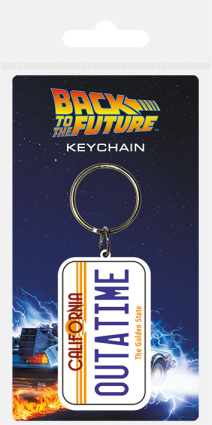 Back To The Future Plate Keychain
